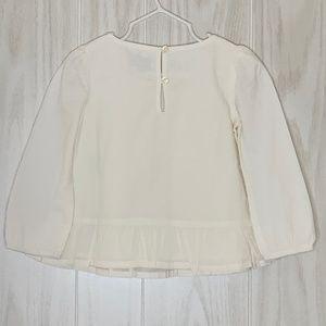 GAP Shirts & Tops - NWT Baby GAP Boho Top w/ Embroidery & Peplum 2T
